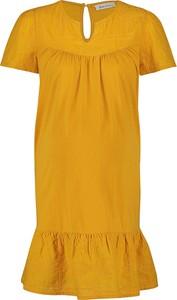 """Queen Mum Sukienka ciążowa """"Newyork"""" w kolorze musztardowym"""
