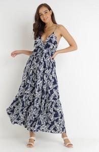 Sukienka born2be z dekoltem w kształcie litery v na ramiączkach