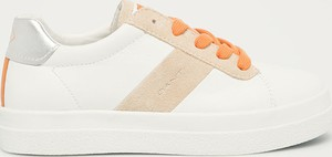 Buty sportowe Gant sznurowane ze skóry z płaską podeszwą