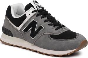 Brązowe buty sportowe New Balance 574 sznurowane
