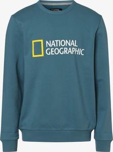 Niebieska bluza National Geographic z dresówki