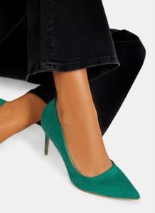 Zielone szpilki DeeZee na szpilce na wysokim obcasie w stylu klasycznym
