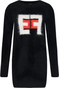 Sukienka Elisabetta Franchi z długim rękawem mini prosta