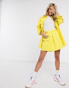 Żółta spódnica Asos mini z jeansu