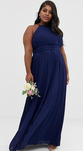 Granatowa sukienka Tfnc Plus bez rękawów