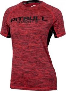 Czerwony t-shirt Pit Bull West Coast