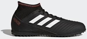 Czarne buty sportowe dziecięce Adidas sznurowane w paseczki
