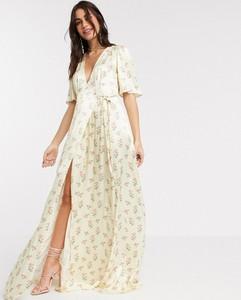 Sukienka Ghost maxi z dekoltem w kształcie litery v