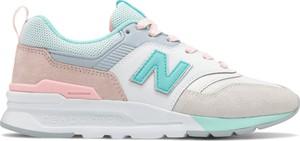 Buty sportowe New Balance w młodzieżowym stylu z zamszu