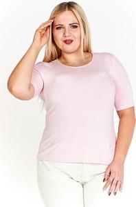 Bluzka Fokus z okrągłym dekoltem z krótkim rękawem w stylu casual