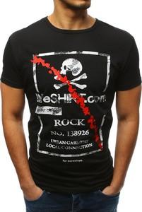 Czarny t-shirt Dstreet z bawełny z krótkim rękawem