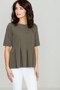 Zielona bluzka LENITIF z krótkim rękawem