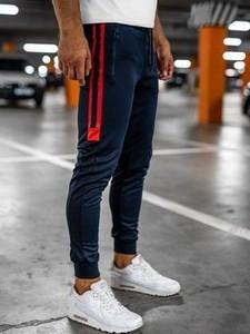 Granatowe spodnie sportowe Denley