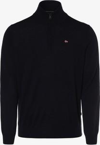 Granatowy sweter Napapijri z wełny