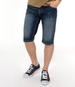 Niebieskie spodenki Lee Cooper z jeansu w stylu casual