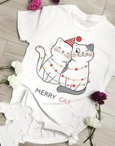 Bluzka Time For Fashion w bożonarodzeniowy wzór z okrągłym dekoltem
