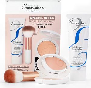 Embryolisse Parisian Glow | Limitowany zestaw kosmetyków: krem odżywczo-nawilżający Lait-Creme Concentre 75ml + puder wygładzająco-brązujący Bonne Mine 12g + pędzel do pudru