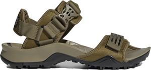 Zielone buty letnie męskie Adidas z klamrami