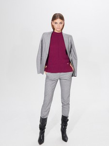 Fioletowy sweter Mohito w stylu casual