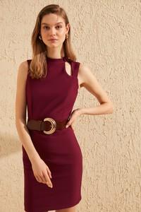 Fioletowa sukienka Trendyol dopasowana mini