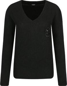 Czarny sweter Guess Jeans z wełny w stylu casual