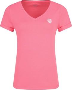 Różowy t-shirt EA7 Emporio Armani z krótkim rękawem