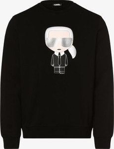 Czarny sweter Karl Lagerfeld z nadrukiem