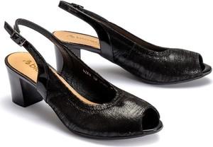 Czarne sandały Bioeco by Arka ze skóry