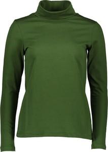 Zielona bluzka Marc O'Polo w stylu casual z golfem z długim rękawem