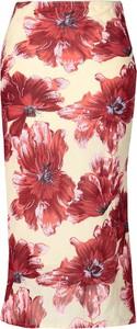Spódnica Fokus z tkaniny w stylu boho midi