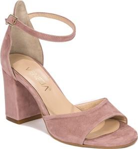 Sandały Venezia z klamrami ze skóry