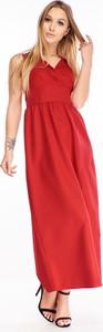 Sukienka Ptakmoda.com z dekoltem w kształcie litery v bez rękawów