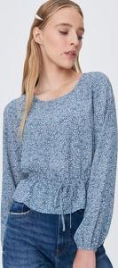 Niebieska bluzka Sinsay w stylu casual