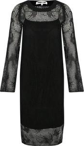Sukienka McQ Alexander McQueen z okrągłym dekoltem z lnu prosta