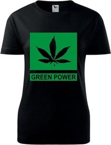 Czarny t-shirt TopKoszulki.pl w młodzieżowym stylu z krótkim rękawem