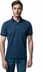 Niebieska koszulka polo Recman