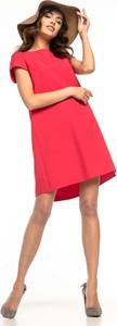 Różowa sukienka Tessita z krótkim rękawem