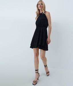 Czarna sukienka Mohito mini bez rękawów