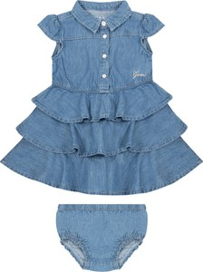 Niebieska sukienka dziewczęca Guess