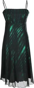 Zielona sukienka Fokus z szyfonu