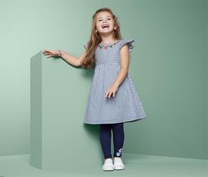 Niebieska sukienka dziewczęca Tchibo z bawełny