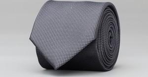 Czarny krawat Borgio