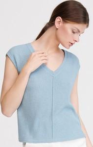 Bluzka Reserved z krótkim rękawem z dekoltem w kształcie litery v