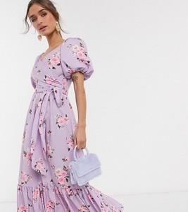 Różowa sukienka John Zack Petite