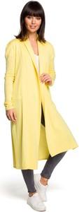 Żółty sweter MOE w stylu casual z bawełny