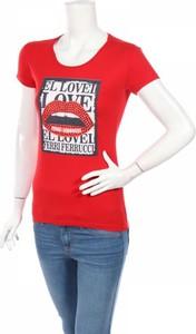 Bluzka Ferri Ferrucci z krótkim rękawem w młodzieżowym stylu
