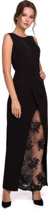 Sukienka Makover z okrągłym dekoltem maxi