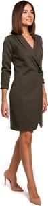 Sukienka Style z tkaniny z długim rękawem