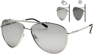 Srebrne okulary damskie Stylion