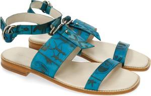 Niebieskie sandały Melvin & Hamilton z klamrami w stylu casual
